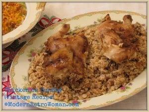Monday Menu: Grandma's Chicken on Sunday