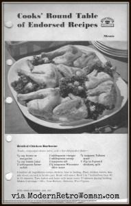 Monday Menu: Broiled Chicken Barbecue