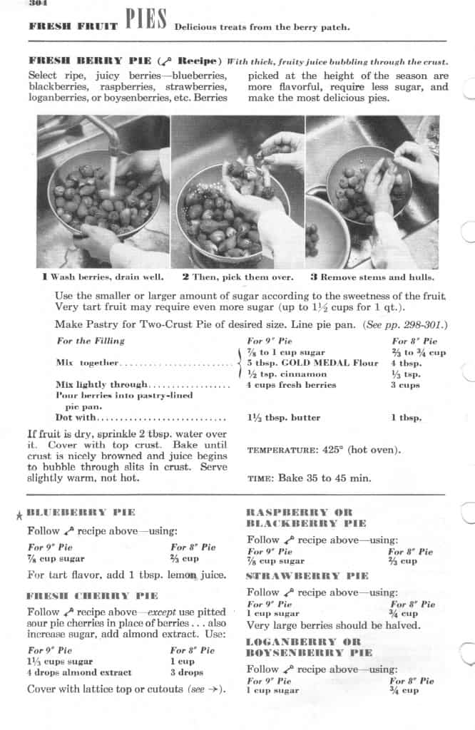 Betty Crocker Berry Pie Key Recipe