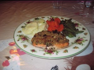 Fish Friday: Salmon with Pecan Coating