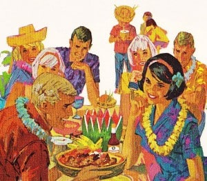 Kikkoman TIKI party vintage advertisement