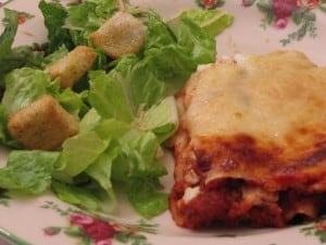 Monday Menu: Friday Lasagne {Vintage Meatless Recipe)