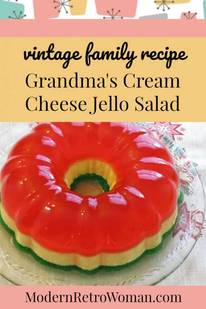Grandma's Cream Cheese Jell-O Salad {Vintage Family Recipe}