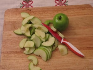 Sliced apples for Bavarian Pork Chops