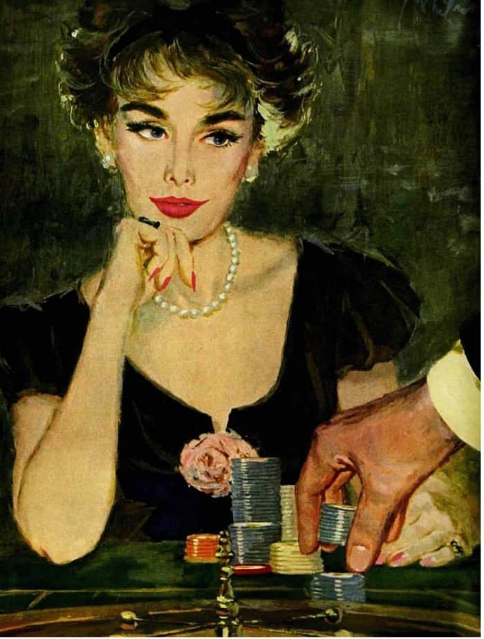 Illustration by Coby Whitmore for the Saturday Evening Post, 1958; Image courtesy of Today's Inspiration Facebook Page