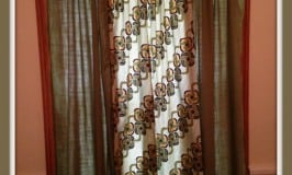 Phase One of Home Office Curtains ModernRetroWomancom