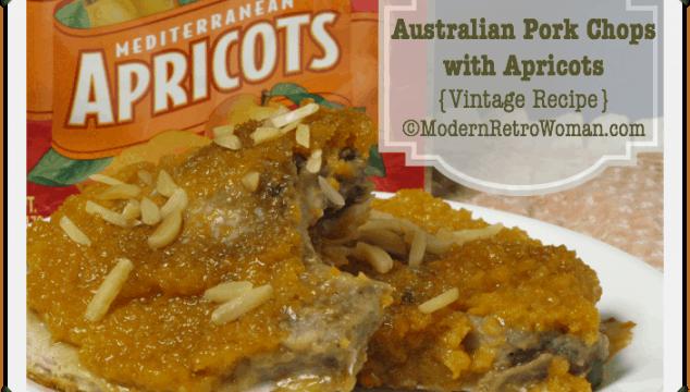 Pork Chops with Apricots vintage recipe ModernRetroWoman.com