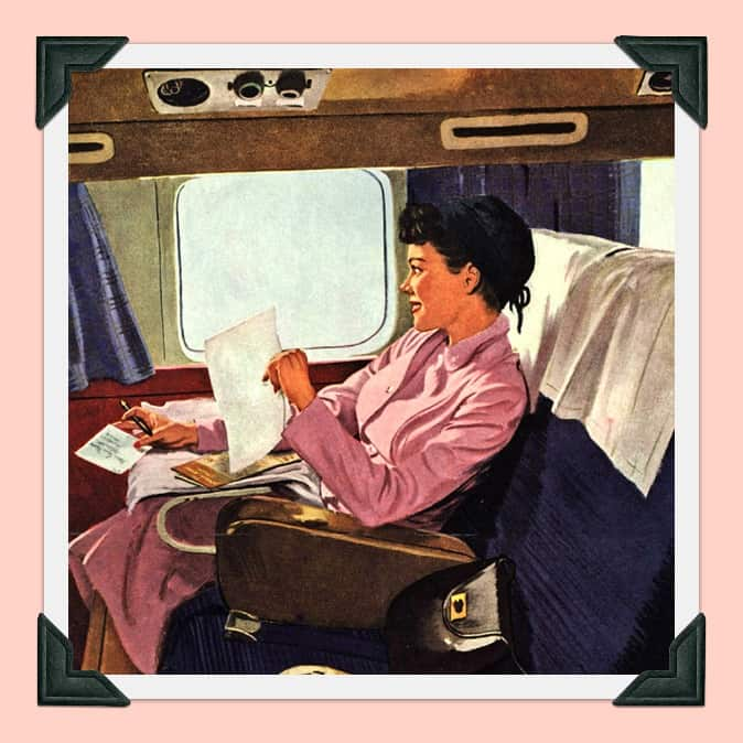 """Travel alone and like it"" American Airlines advertisement; Courtesy of Mad Men Art on Flickr."