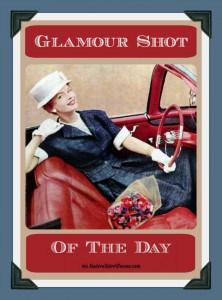 Madame Grés suit Glamour Shot of the Day ModernRetroWoman.com