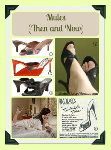 Mules Then and Now ModernRetroWoman.com