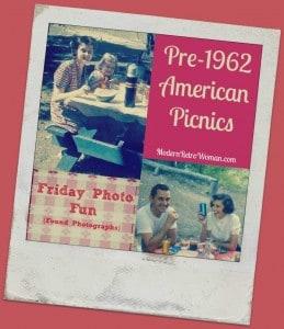 Pre-1962 American Picnics Found Photographs ModernRetroWoman.com