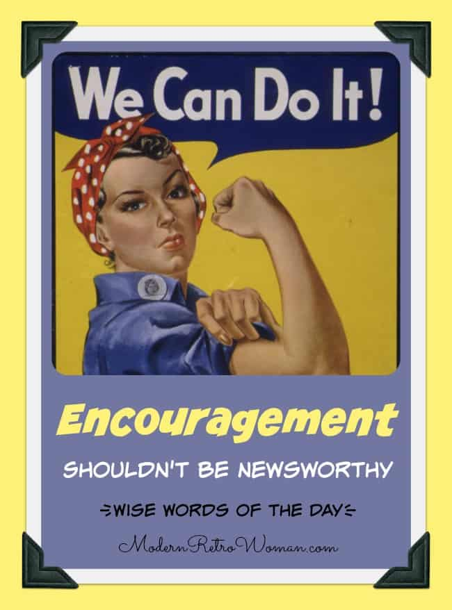 """Encouragement"" Shouldn't Be Newsworthy"