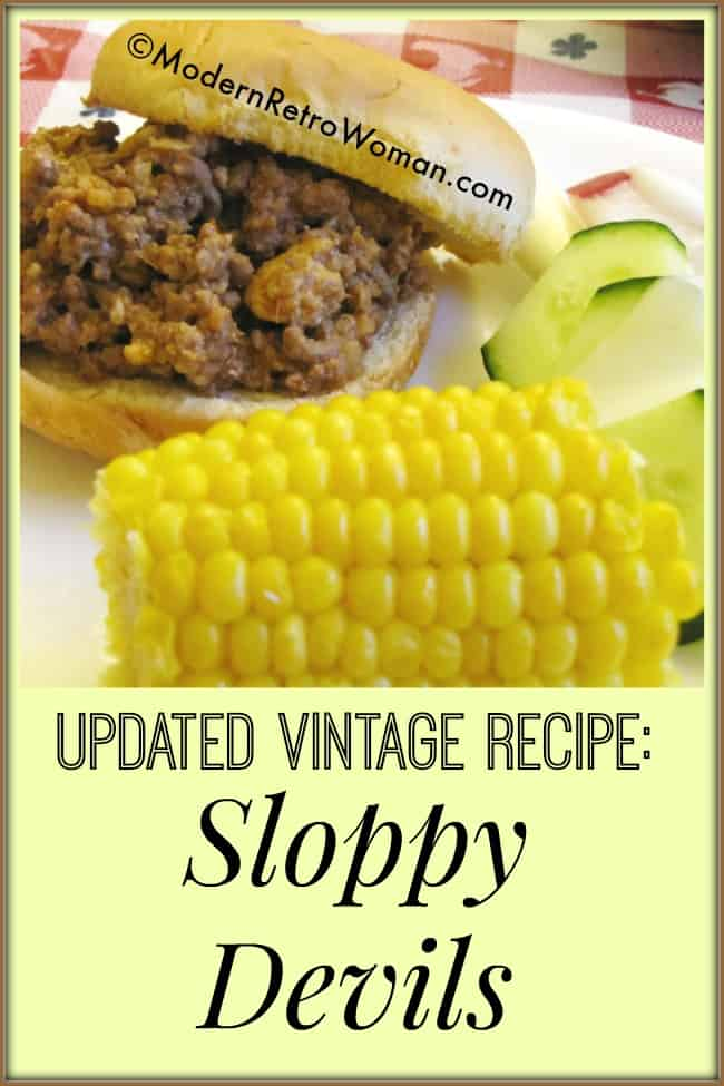 Image for Easy vintage recipe for sloppy devils : Sloppy Devils ModernRetroWoman.com