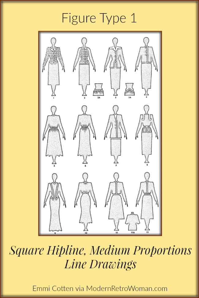Clothes-make-magic-figure-type-1-line-drawing-modernretrowoman.com